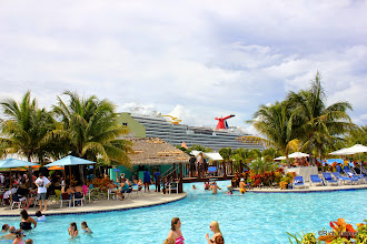 Photo: The pool at Jimmy Buffett's Margaritaville at the Carnival Cruise Center on Grand Turk.