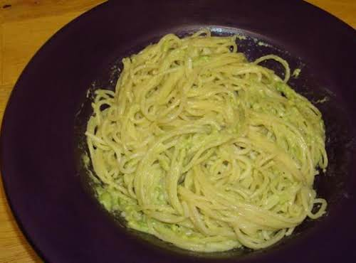 "Pasta with Creamy Avocado ""Pesto"" Sauce ""This decandent sauce is creamy, buttery..."