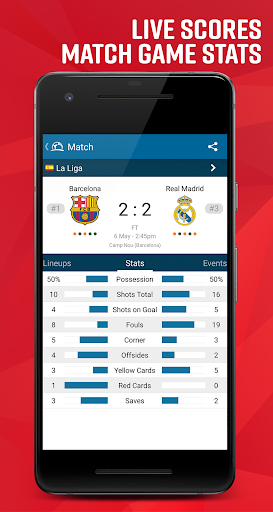 Live Soccer TV - Scores & Stats 4.1.3.4 Android screenshots 1