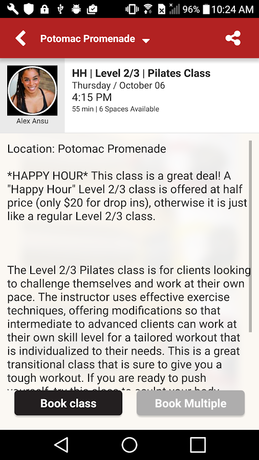 RTR Pilates- screenshot