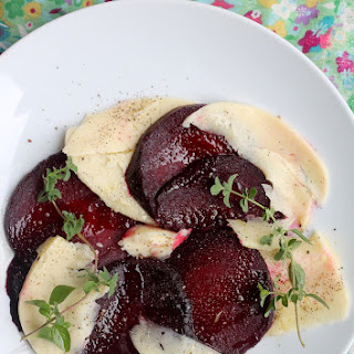 Beet Carpaccio with Farmer Cheese