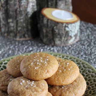 BROWNED BUTTER SALTY PUMPKIN SUGAR COOKIES