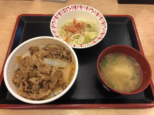 新登場...牛丼櫻花蝦高麗菜套餐(中碗)