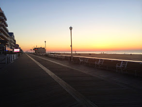 Photo: Ocean City Maryland`s Famous 10 mile boardwalk at 5:30am