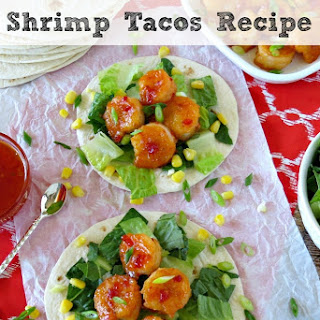 Sweet and Spicy Shrimp Tacos.