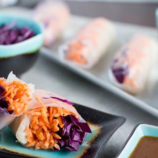 Cauliflower Rice Spring Rolls