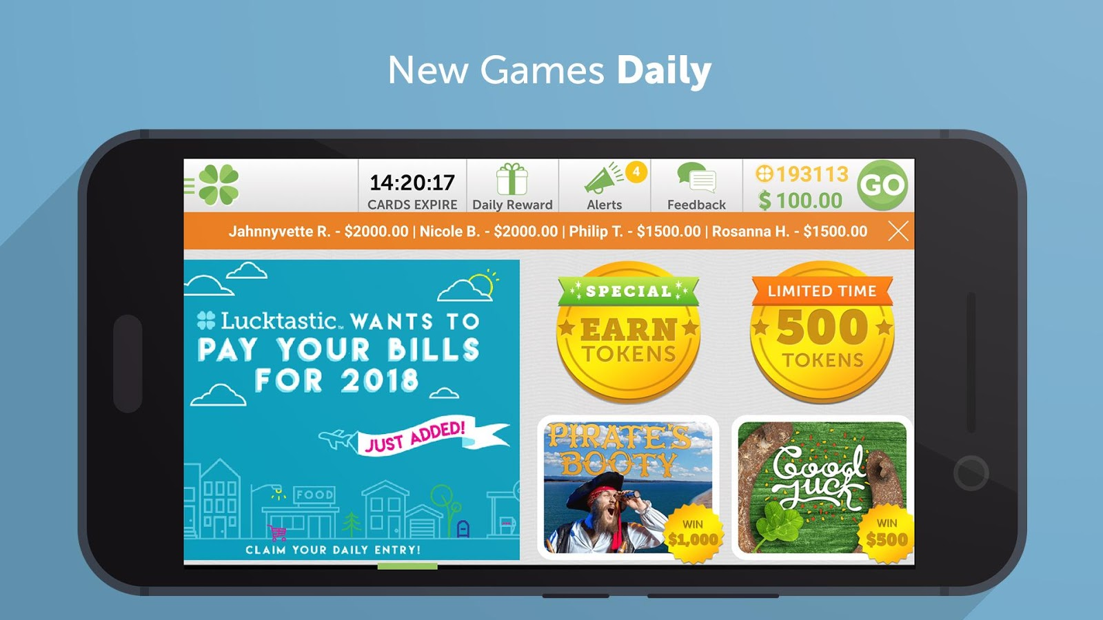 Lucktastic: Win Prizes, Earn Gift Cards & Rewards- screenshot
