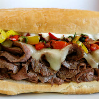 Grilled Steak & Cheese Tortas with Sofrito-Inspired Salsa & Garlic-Lime Mayo.