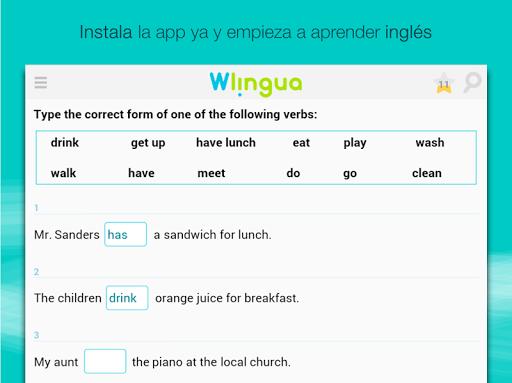 Aprender inglés con Wlingua screenshot 14