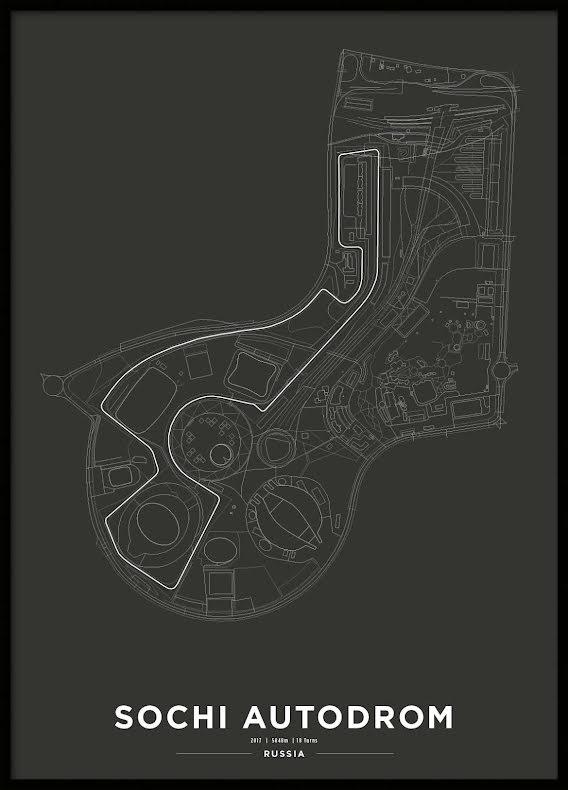 Poster, Sochi Autodrom Formula 1 Print