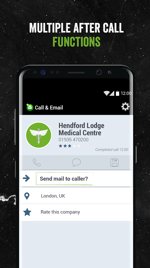 Call & Email- screenshot