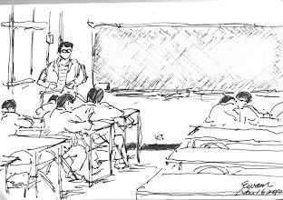 Photo: 出監就業輔導2010.11.16鋼筆 監獄在受刑人即將出監時都會安排就業及職訓的資訊告知,但大部份收容人問他出監要幹嘛,回答多是頭頭是道,但沒多久又會進來,他們心裡似乎很清楚,自己想要吃的是哪一行飯…
