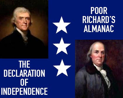 A Reading of The Declaration of Independence Poor Richard's Almanac & More