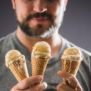 Easy, No Churn Creamy Caramel Macchiato Coffee Ice Cream