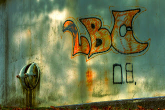 Photo: Exurban graffiti  I suspect LBC is a teenager's initials. It's unlikely the Long Beach Crypts have set up camp in Northborough, MA.