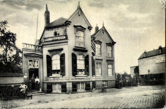 Photo: 1905 Hotel - Pension-Restaurant 'De Koepel' van Severijnen, afgebroken bij heraanleg kruising Haagweg - Heuvelstraat..