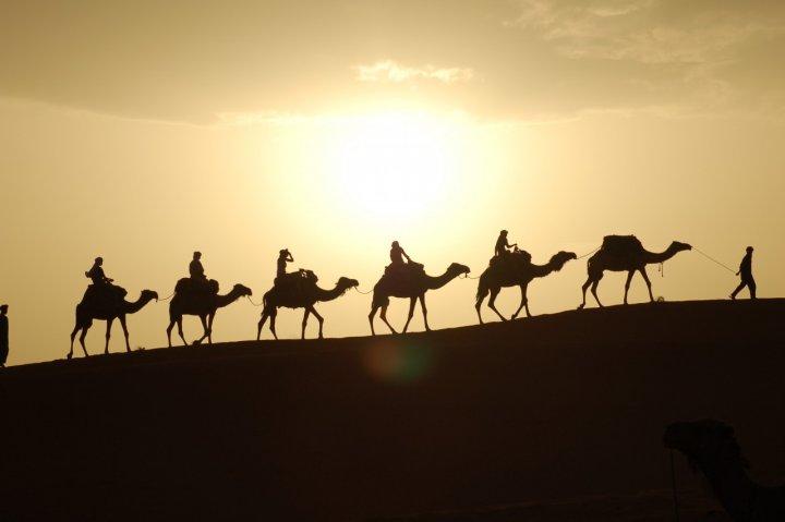 Incolonnati nel deserto di Merzouga di perbach