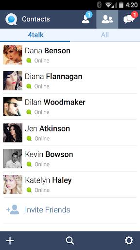 4talk Messenger 2.0.79 screenshots 4