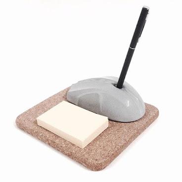 水泥滑鼠筆插座