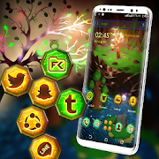 Magic River Tree Launcher Theme App Report on Mobile Action - App