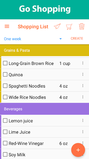 Recipe Calendar - Meal Planner Screenshot