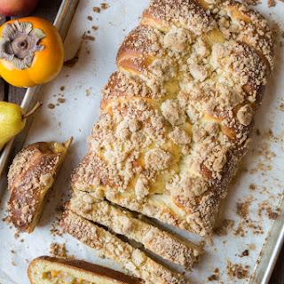 Apple, Pear and Persimmon Stuffed Brioche Recipe