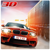 Racing in car Grand Traffic Racer