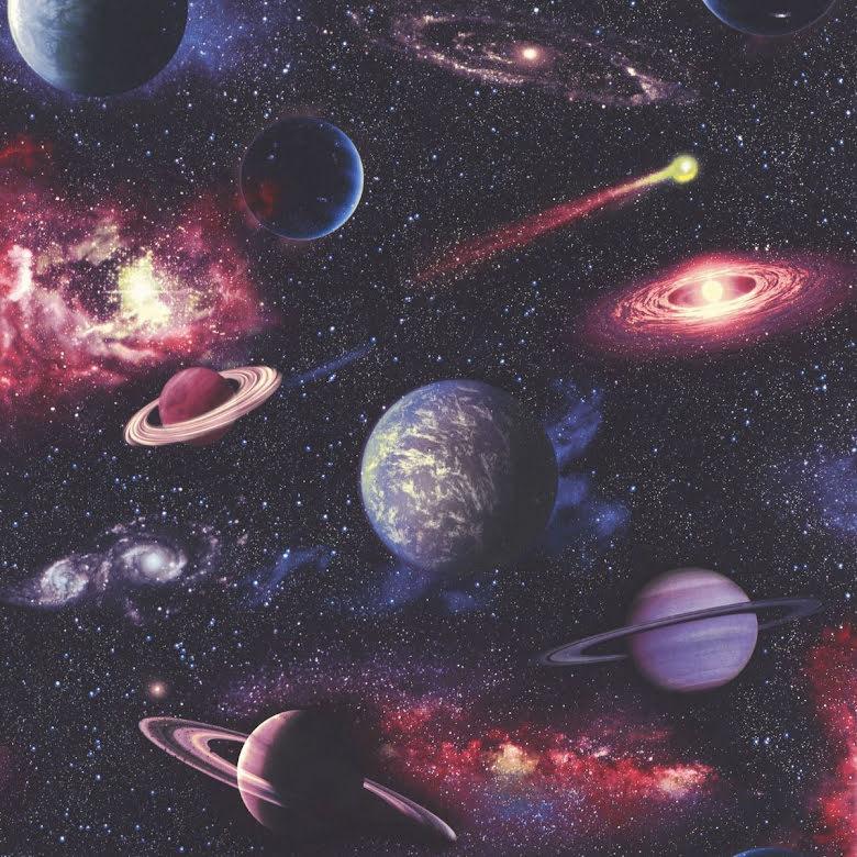 Tapet med motiv från rymden kosmos planeter