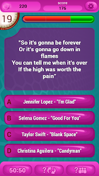 Guess The Lyrics POP Quiz