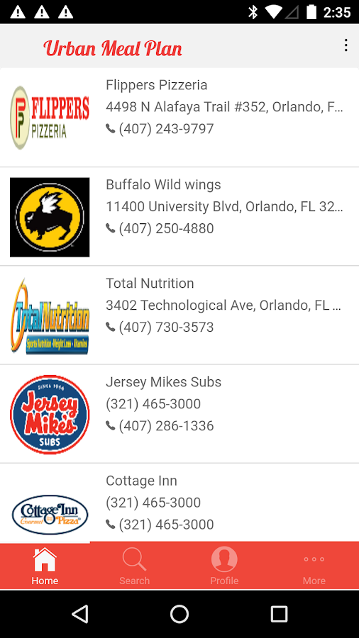 urbanmealplan- screenshot