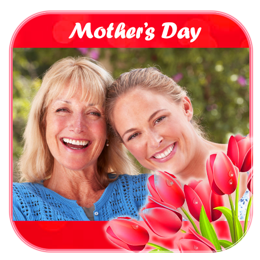 Happy Mother day photo frame greeting card wish