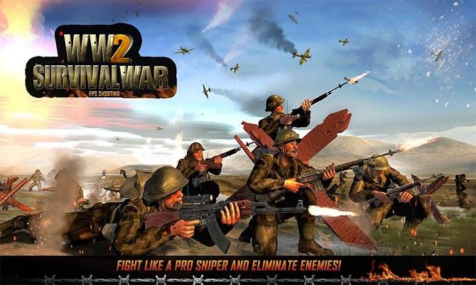 WW2 Survival War Prisoner : FPS Shooting Game Android 4