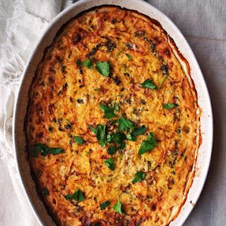 Spaghetti Squash and Sweet Potato Gratin with Brie Recipe