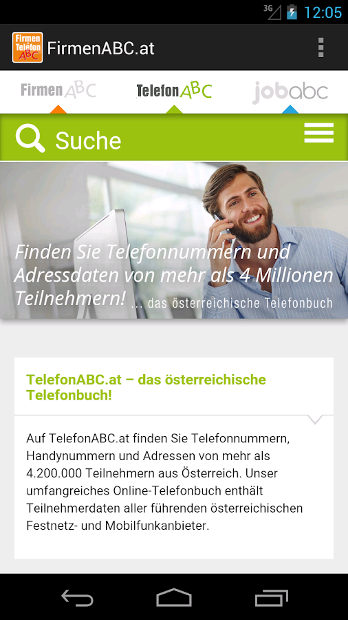 FirmenABC.at & TelefonABC.at- screenshot