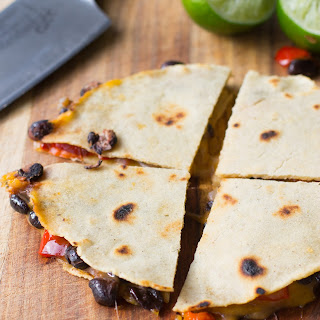 Spicy Black Bean and Roasted Red Pepper Quesadillas Recipe