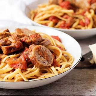 Italian Sausage and Tomato Linguine.