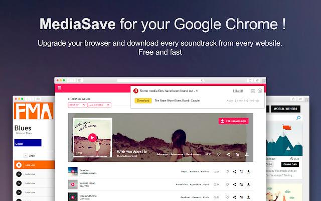 MediaSave. Download music free