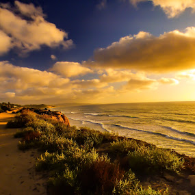 Seascape sunset shadows by Brendan Mcmenamy - Novices Only Landscapes ( san diego, sunset, shadow, sea, seascape )