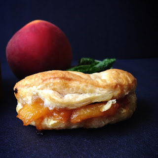 Minted Peach Turnovers.