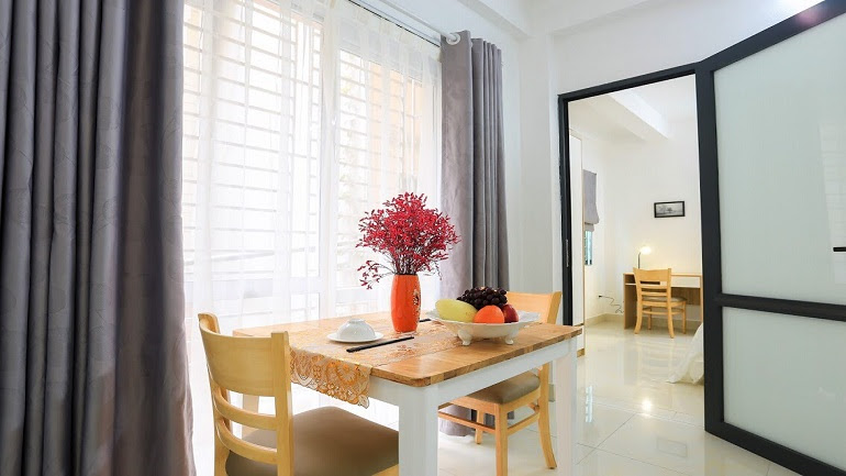 Brand – new modern serviced apartment in Nguyen Thi Dinh street, Cau Giay district for rent