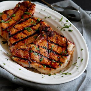 Grilled Pineapple Chili Pork Chops.