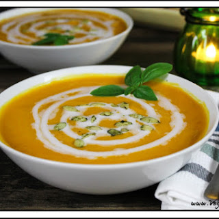 Vegan Butternut Squash & Sweet Potato Soup