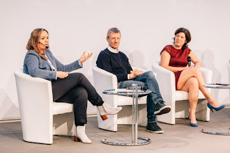 Photo: Andreea Wade, CEO and co-founder, Opening.io; Philipp Kreibohm, managing director and co-founder, Home24; Karen Boers, managing director and co-founder, Startups.be