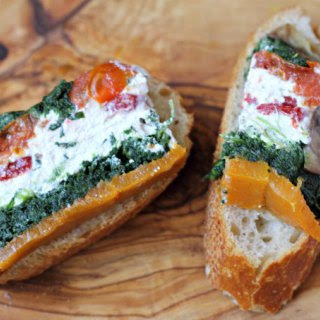 Vegetable and Goat Cheese Terrine.