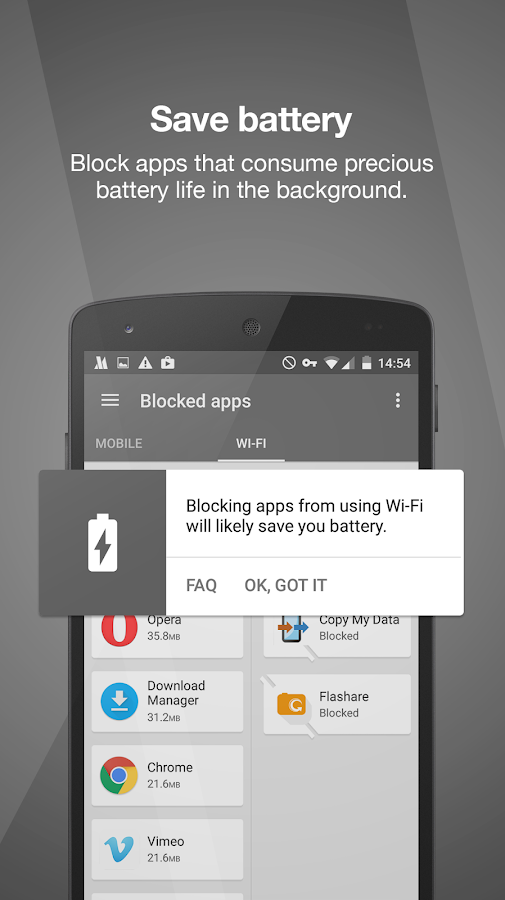 Opera Max - Data management - screenshot
