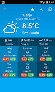 Weather Azerbaijan screenshot 1