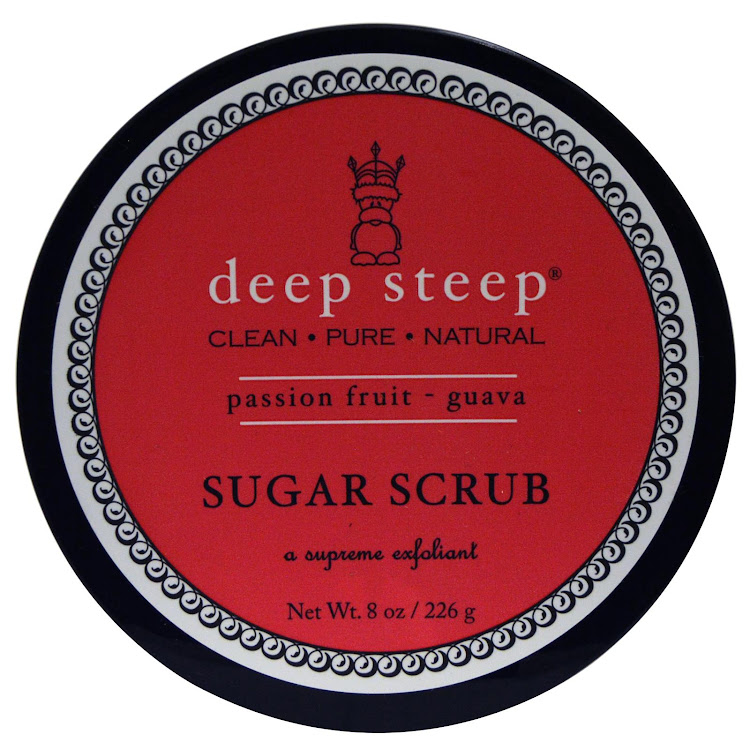 Deep Steep, Organic Sugar Scrub, Passion Fruit Guava, 8 oz (226 g) by Supermodels Secrets