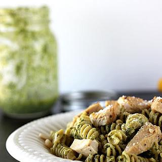 Lemon Pesto Pasta with Chicken.