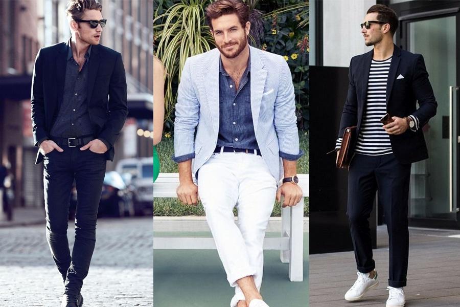 Стиль smart-casual сочетает изысканную деловую одежду с предметами повседневного гардероба
