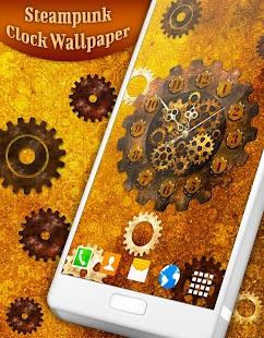 Steampunk Clock Live Wallpaper - náhled